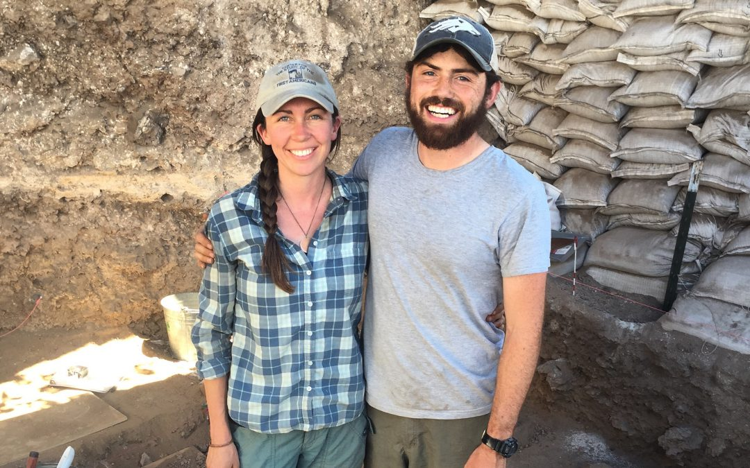 Richie and Katelyn at the Connley Caves excavation in the Fort Rock Basin of Oregon in 2018.